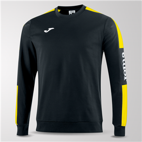 Joma Champion IV Fleece Sweatshirt – Black/Yellow