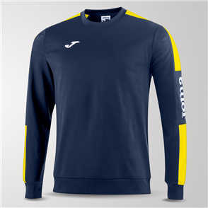 Joma Champion IV Fleece Sweatshirt – Navy/Yellow