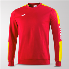 Joma Champion IV Fleece Sweatshirt – Red/Yellow