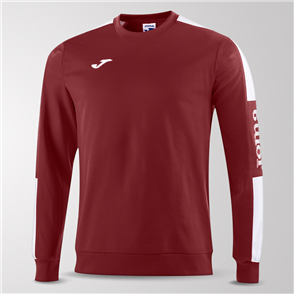 Joma Champion IV Fleece Sweatshirt – Maroon/White