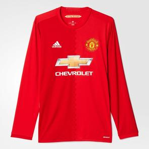 adidas 2016-17 Manchester United Home Long Sleeve Shirt