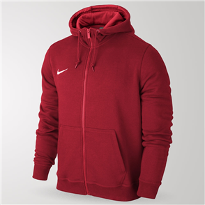 Nike Junior Team Club Full-Zip Hoodie – Red