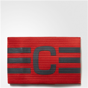 adidas Captain's Armband – Red/Grey