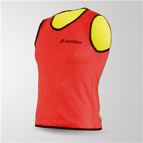 Lotto Reversible Mesh Bib – Red/Yellow