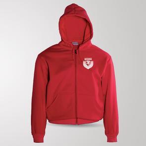 TSS Claudelands Rovers Zip Through Fleece Hoodie – Red