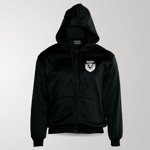 TSS Claudelands Rovers Zip Through Fleece Hoodie – Black