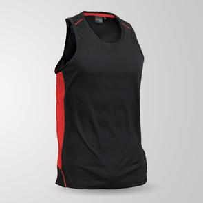 TSS Junior Matchpace Singlet – Black/Red