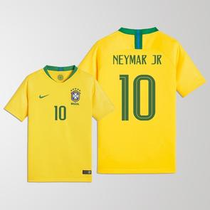 Nike Junior 2018 Brazil Home Shirt (Neymar 10)