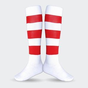 TSS Football Sock – White/Red