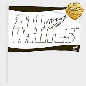All Whites Large Flag On Pole