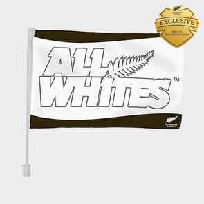 All Whites Car Flag