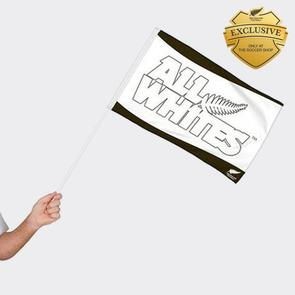 All Whites Hand Waver Flag