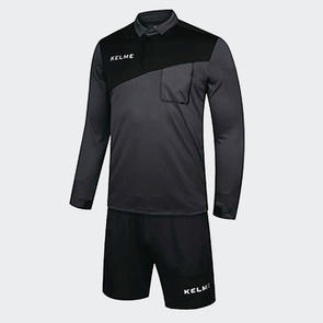 Kelme Arbitro II Long Sleeve Referee Set – Dark Grey/Black