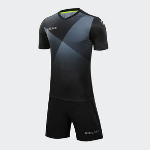 Kelme Cruz Jersey & Short Set – Black/Silver