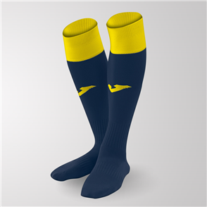 Joma Calcio 24 Sock – Navy/Yellow