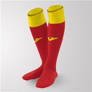 Joma Calcio 24 Sock – Red/Yellow