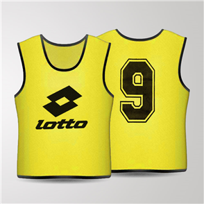 Lotto Mesh Numbered Bib Set – Yellow