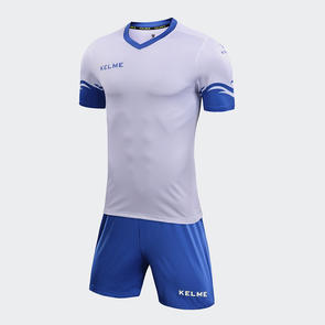 Kelme Dominar Jersey & Short Set – White/Royal Blue