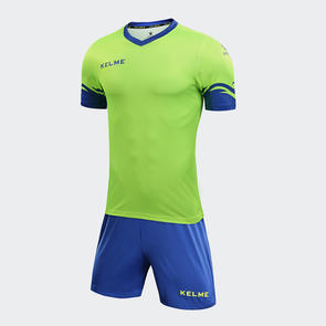 Kelme Dominar Jersey & Short Set – Neon Green/Royal Blue