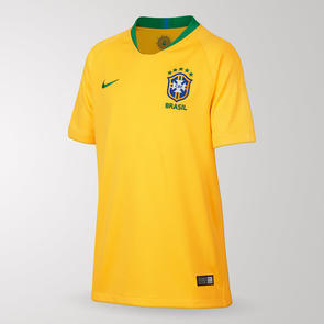 Nike Junior 2018-19 Brazil Home Shirt