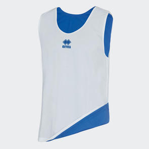 Erreà Reversible Training Bib – White/Blue