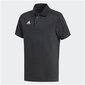 adidas Junior Tiro 17 Cotton Polo – Black