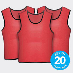 TSS 20 Plain Training Bibs Set – Red
