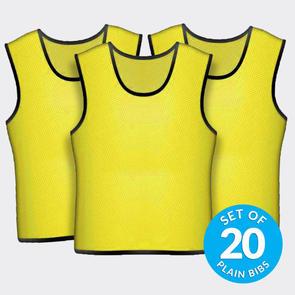 TSS 20 Plain Training Bibs Set – Yellow
