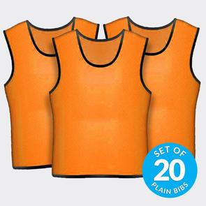 TSS 20 Plain Training Bibs Set – Orange