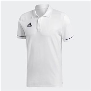 adidas Tiro 17 Cotton Polo – White