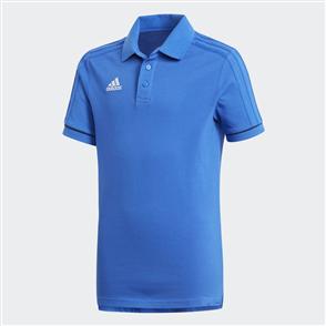adidas Junior Tiro 17 Cotton Polo – Blue