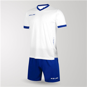 Kelme Junior Defensa Jersey & Short Set – White/Blue