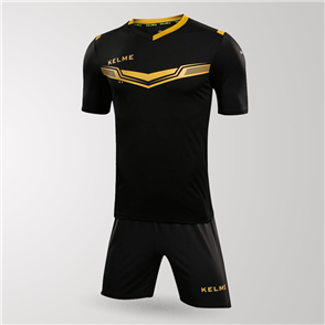 Kelme Goleador Jersey & Short Set – Black/Gold