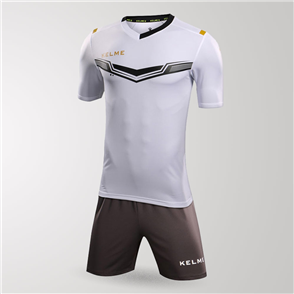 Kelme Goleador Jersey & Short Set – White/Black