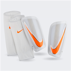 Nike Mercurial Lite Shin Guards – White/Orange