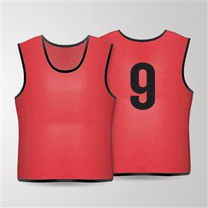 TSS 1-11 Numbered Training Bibs Set – Red