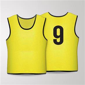 TSS 1-11 Numbered Training Bibs Set – Yellow
