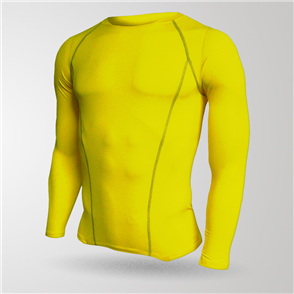 TSS Junior Baselayer Long Sleeve Tee – Yellow