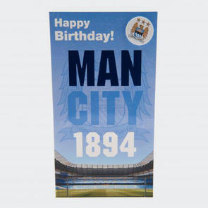 Manchester City Birthday Card & Badge