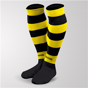 Joma Zebra II Sock – Black/Yellow
