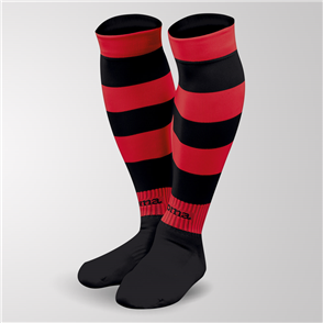 Joma Zebra II Sock – Black/Red