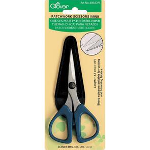 """Clover Patchwork Scissors - Mini 4.5"""" W/Sheath Cover"""