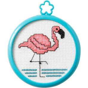 Bucilla Counted Cross Stitch Kit - Tropical Flamingo (14 count)