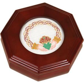 """Sudberry House  Mahogany Octagon Box 6""""X6""""X2.75"""""""