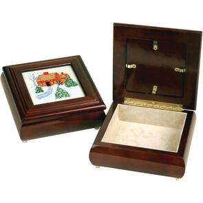 "Sudberry House  Mahogany Donna's Square Box 6""X6""X2.75"""