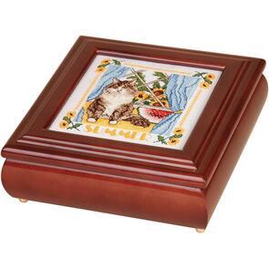 """Sudberry House  Mahogany Betsy Square Box 8""""X8""""X2.75"""""""
