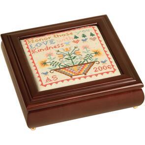 "Sudberry House  Mahogany Laura's Square Box 8""X8""X2.75"""