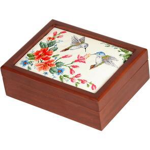 "Sudberry House  Mahogany Picture Frame Box 8.25""X6.25""X2.75"""