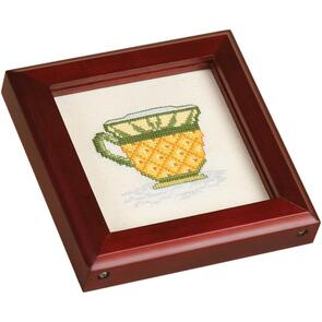 "Sudberry House Cherry Square Wood Coaster 4.5""X4.5"""