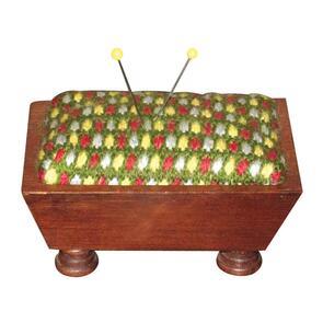 "Sudberry House Mahogany Vintage Pincushion 3.5""X5"""